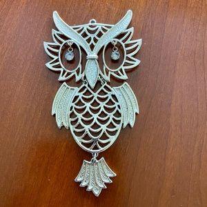 Vintage Large Owl Pendant